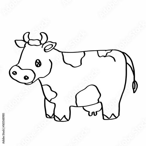 Cute cow coloring page – kaufen Sie diese Illustration und finden ...