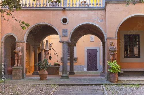 Foto auf Leinwand Schloss Toskana-Impressionen, schönes Palazzo
