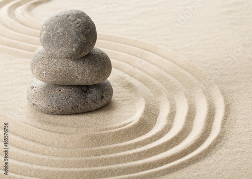 Photo Stands Stones in Sand Spa.