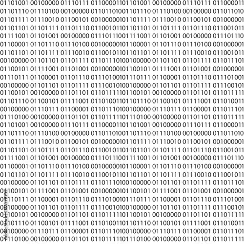 Fotografía  Binary code vector seamless pattern