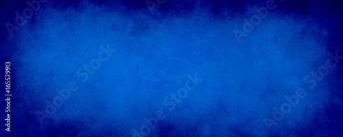 Fototapeta dark blue background with distressed vintage marbled texture obraz