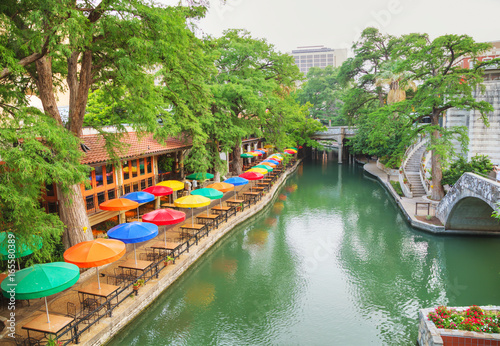 Canvas Prints American Famous Place River walk in San Antonio