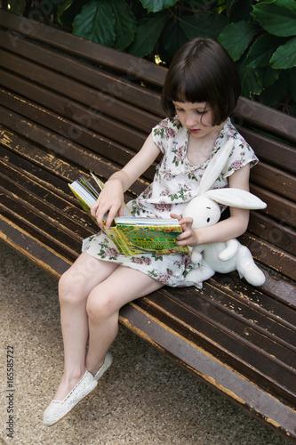 Fotografia, Obraz  beautiful little girl at summer outdoors