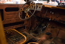 Rusty Interior Of An Old Car. ...