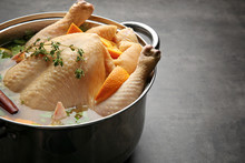 Cooking Pot With Turkey Soaked...