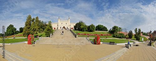 Fototapeta Plac Zamkowy w Lublinie -Stitched Panorama obraz