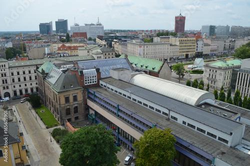 Plakat Poznań z lotu ptaka/Aerial view of Poznan, Greater Poland, Poland