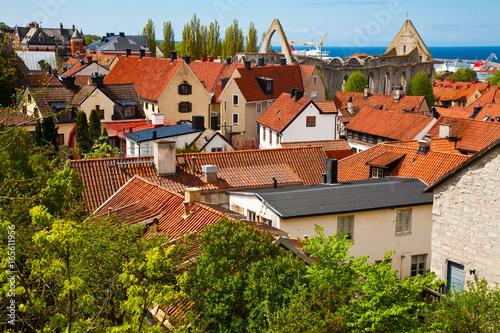 Fotomural  Visby city at Gotland, Sweden