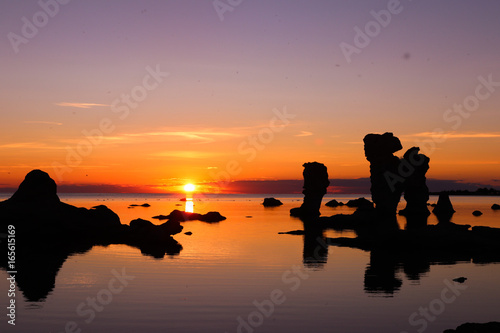 Foto auf AluDibond Pier Sunset