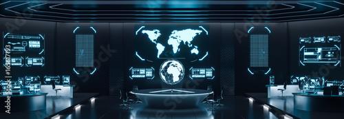 Fotografia Command center interior, cybersecurity