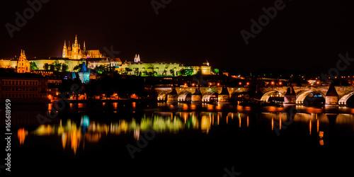 Plakat Praga nocą