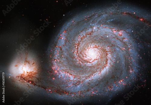 Poster Spirale Whirlpool Galaxy. Spiral galaxy M51 or NGC 5194.