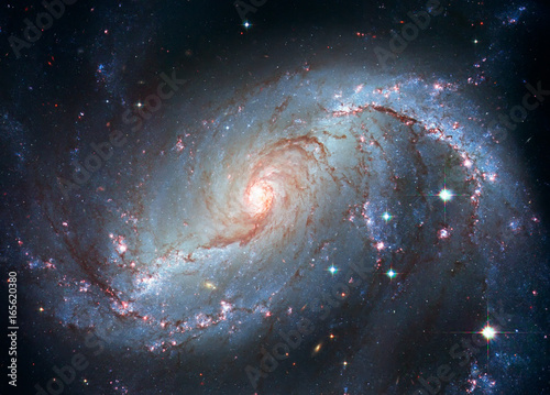 Stellar Nursery NGC 1672. Spiral galaxy in the constellation Dorado.