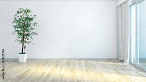 Fototapeta Modern bright living room. 3D rendering obraz na płótnie