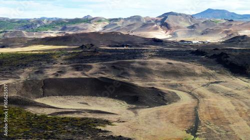 Hverfjall bei Myvatn in Island Obraz na płótnie