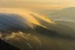 朝日に光る雲海