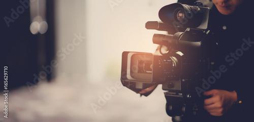 Video camera /videographer close up / cameraman / movie