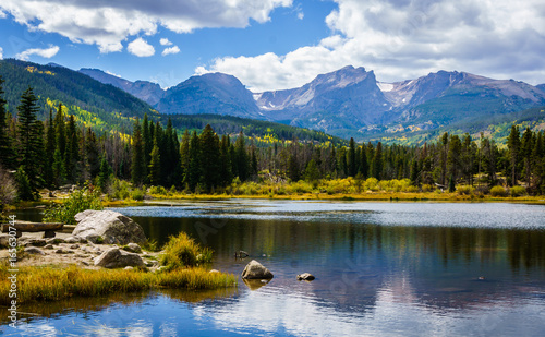 Fotografia  Sprague Lake in Rocky Mountain National Park Colorado