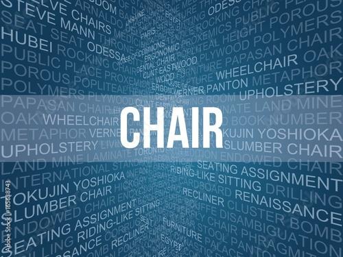 chair Fototapet