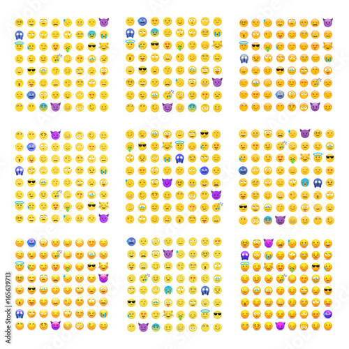 Photo  9 sets of cute smiley emoticons