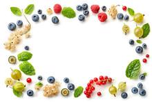 Frame Of Fresh Berries