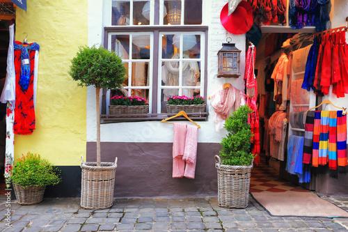 Deurstickers Brugge Bruges street view