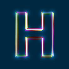 Letter H - Vector Multicolored...