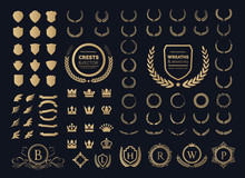 Luxury Logo Set. Crest Logo El...