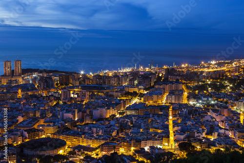 Foto op Canvas Canarische Eilanden Panorama of Santa Cruz de Tenerife