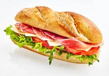 Baguette Sandwich With Serrano...