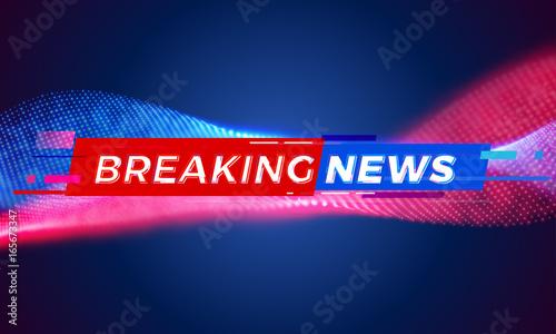 Breaking News Television Tv Screen Bar Background Vector Modern