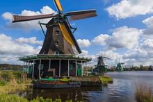 Windmills In Zaanse Schans - N...