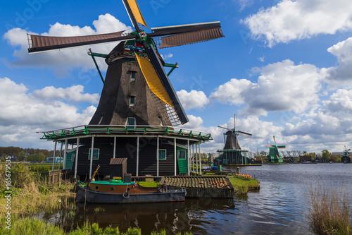 Windmills in Zaanse Schans - Netherlands Canvas Print