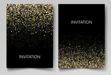Invitation Template With Gold ...