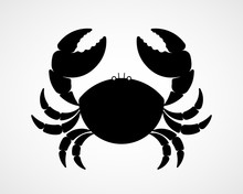 Vector Black And White Crab Si...