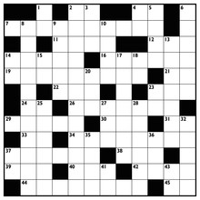 Crossword With Empty Boxes To ...