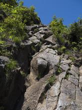 谷川岳西黒尾根の鎖場