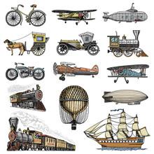 Submarine, Boat And Car, Motor...