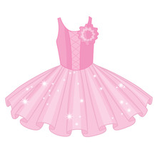 Vector Soft Pink Ballet Tutu D...