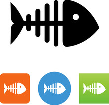 Fish Bones Icon - Illustration