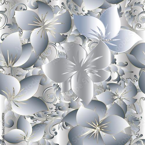 lekka-kwiecista-3d-bezszwowa-deseniowa-tlo-tapeta-z-rocznika-dekoracyjnymi-3d-bialego-zlota-kwiatami-slimacznica-zawijasa-liscmi