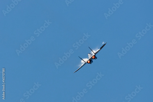 Combat fighter jets flyby with afterburner Wallpaper Mural