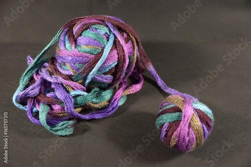 Bunte Wolle Zum Stricken Oder Häkeln Wollknäuel Kaufen Sie Dieses