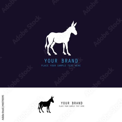 Cuadros en Lienzo donkey silhouette logo