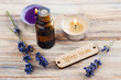 SPA composition with essential oil, lavender flowers