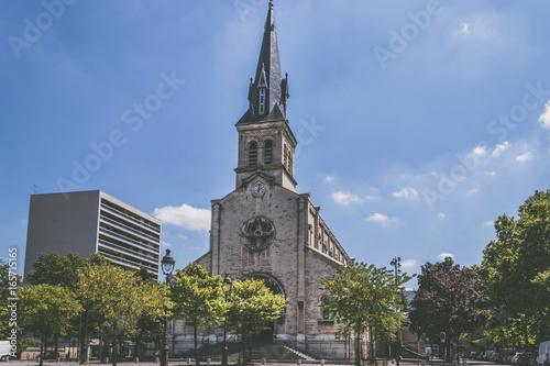 Staande foto Stockholm Église Notre-Dame-de-la-Gare de Paris, 13ᵉ arrondissement de Paris, île de France, France