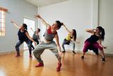 Hip-Hop Dancers Having Training
