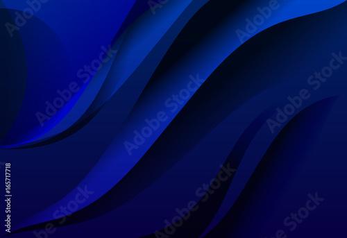 Valokuva  Blue gradient abstract line wavy background