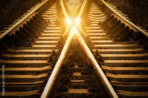 In de dag Spoorlijn Change Concept
