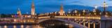 Fototapeta Fototapety Paryż - Pont Alexandre III und Invalides in Paris, Frankreich